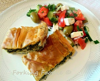 Spinach and Feta Filo Pie - Spanakotiropita (includes Thermomix method)