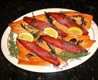 Steelhead Trout with Turkey Bacon and Rosemary