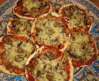 Vegetarische pita pizza