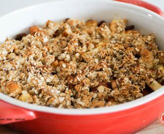 Gezonde apple crumble