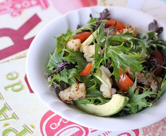 Grilled Squid and Rocket Salad