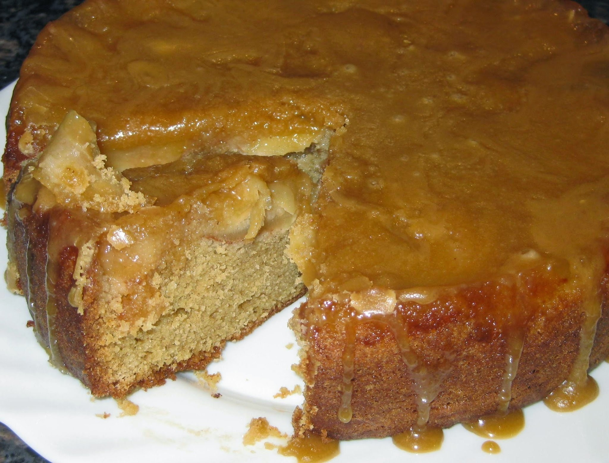 No bobbing about for Toffee Apple Cake