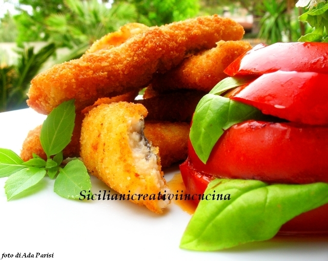 Flag fish cutlets with grilled tomatoes
