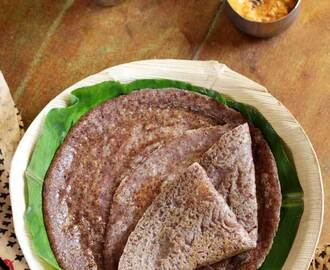 Ragi Godhi Dosa | Whole Wheat Finger Millet Dosa