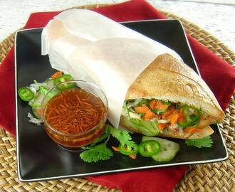 Lemongrass Chicken Banh Mi Sandwiches