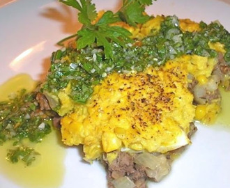 Chilean Corn Pie (Pastel de Choclo) with Pebre Sauce