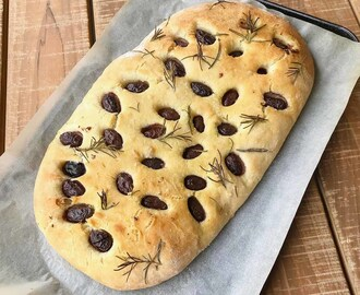 Thermomix Olive & Rosemary Focaccia