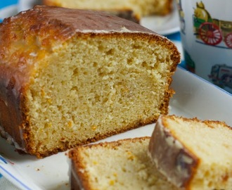 Marmalade cake with orange icing