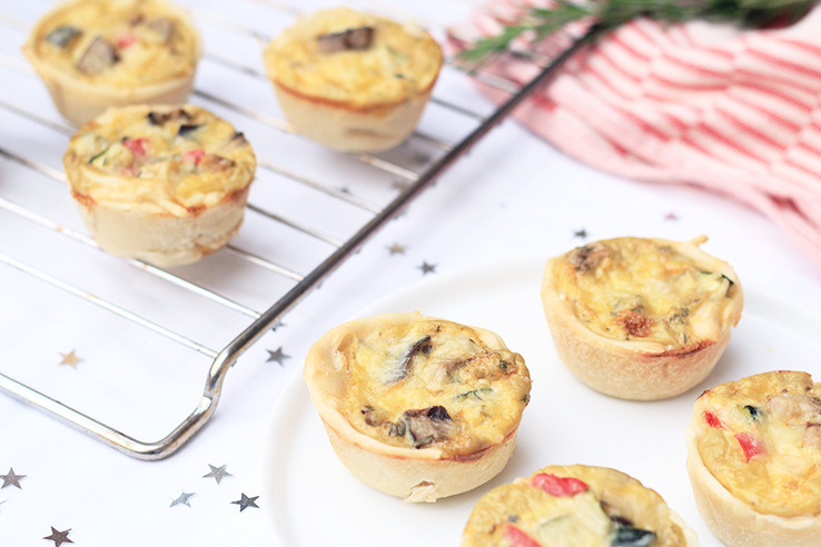 Mediterraanse mini quiches