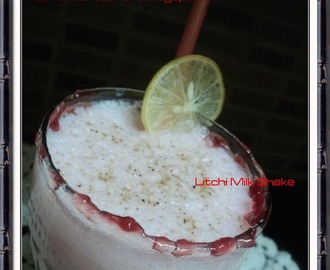 Litchi Milk Shake | Summer Drinks