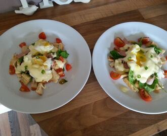 Eggs benedict salad recipe