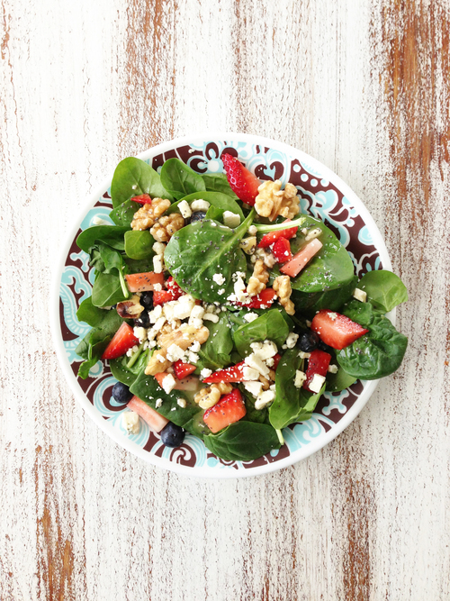 Berry Spinach Salad & Lemon Poppy Seed Vinaigrette
