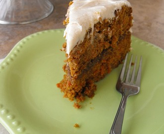 Carrot Layer Cake with Praline Filling and Cinnamon Cream Cheese Frosting
