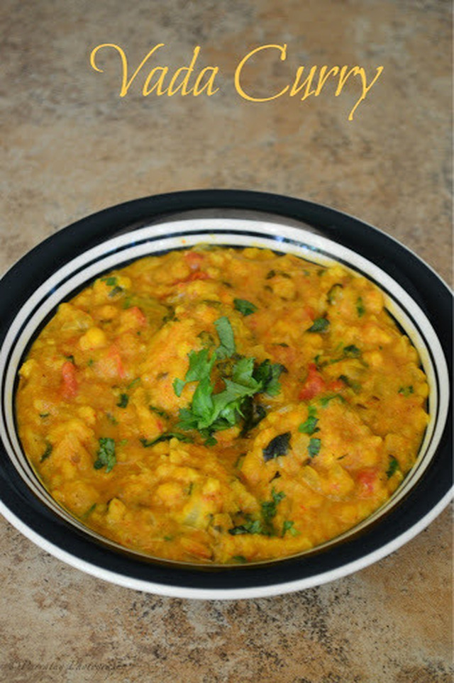 Vada Curry | Side Dish for Idli and Dosa