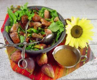 Sorrel Salad with Figs, Mushrooms and Prosciutto