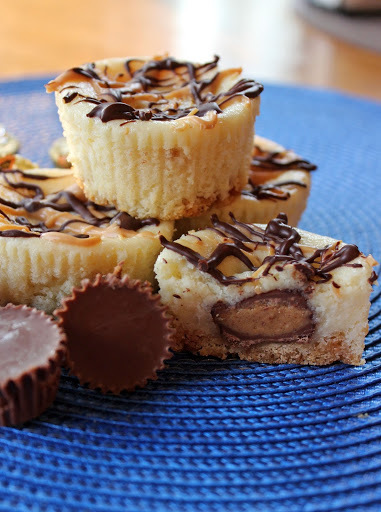 Peanut Butter Cup Mini Cheesecakes