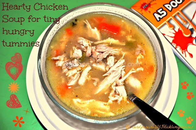Hearty chicken soup with vegetables and rice and an Announcement !!