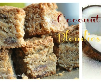 Coconut Blondies.