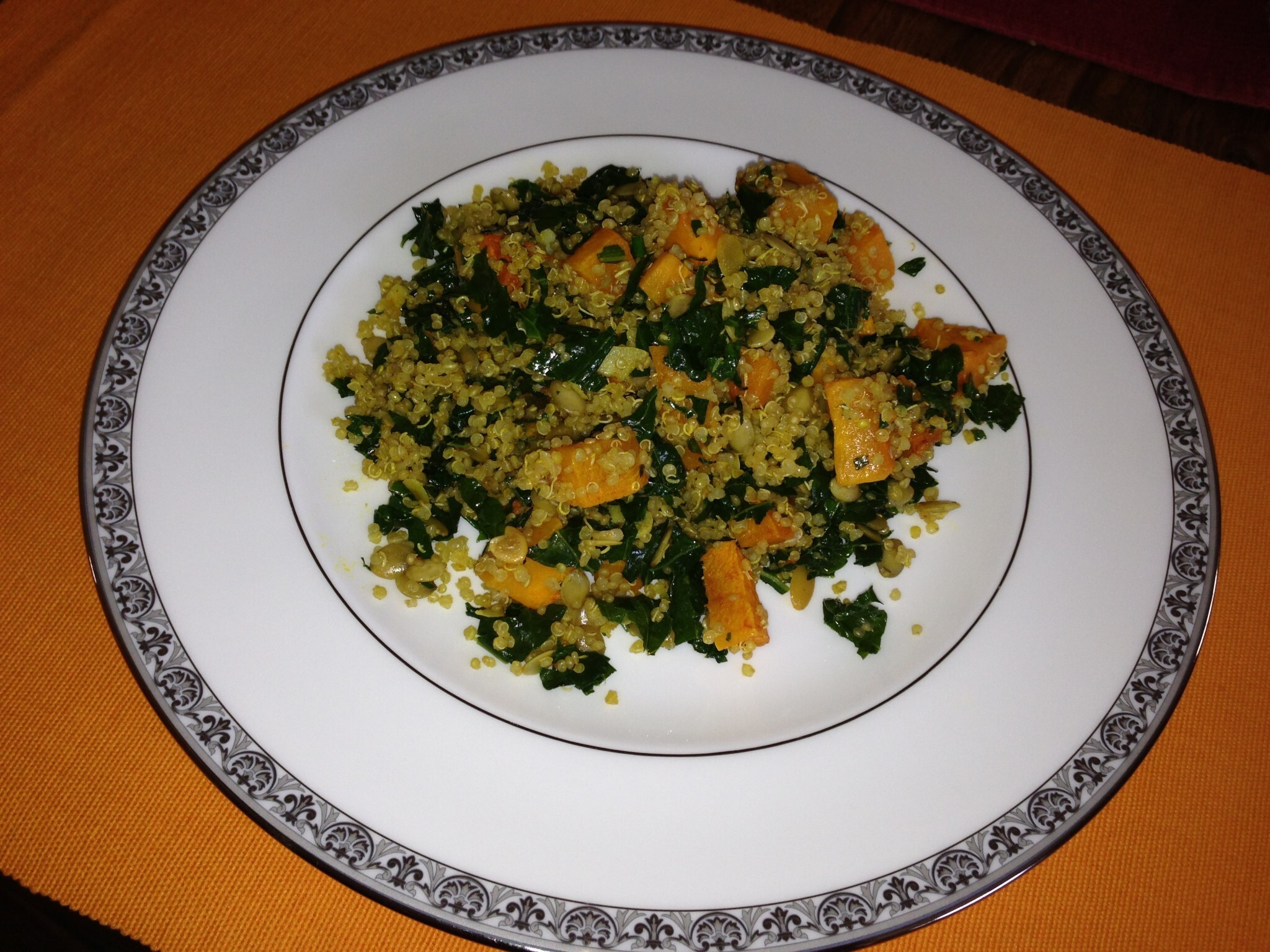 Quinoa Salad With Kale & Roasted Butternut Squash