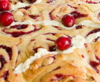 Cranberry witte chocolade broodjes