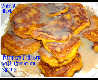 Pumpkin Fritters & Cinnamon Syrup