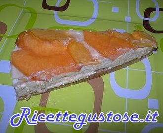 Cheesecake alle pesche e yogurt greco