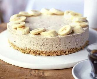 Frozen banana and peanuybutter cheesecake