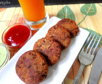 Rajma Cutlet – Red Kidney Beans fritters