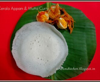 Kerala Appam and Mutta Curry