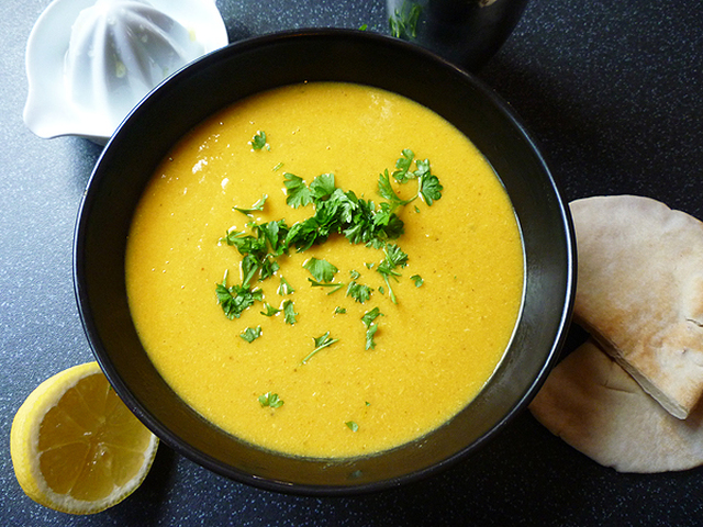 * Spicy Chicken, Sweet Potato and Coconut Soup