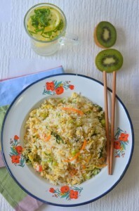 Egg n veg fried rice – The winters' quick fix