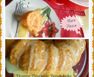 Orange Pineapple Bundt Cake {2 ingredients}