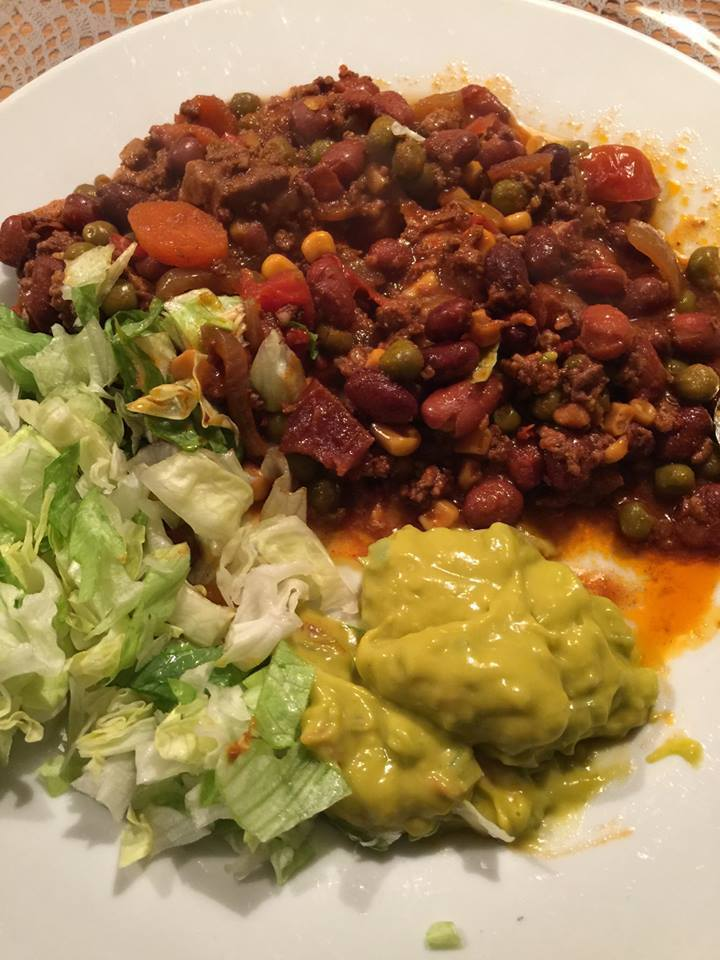 Chili con carne, slowcooker