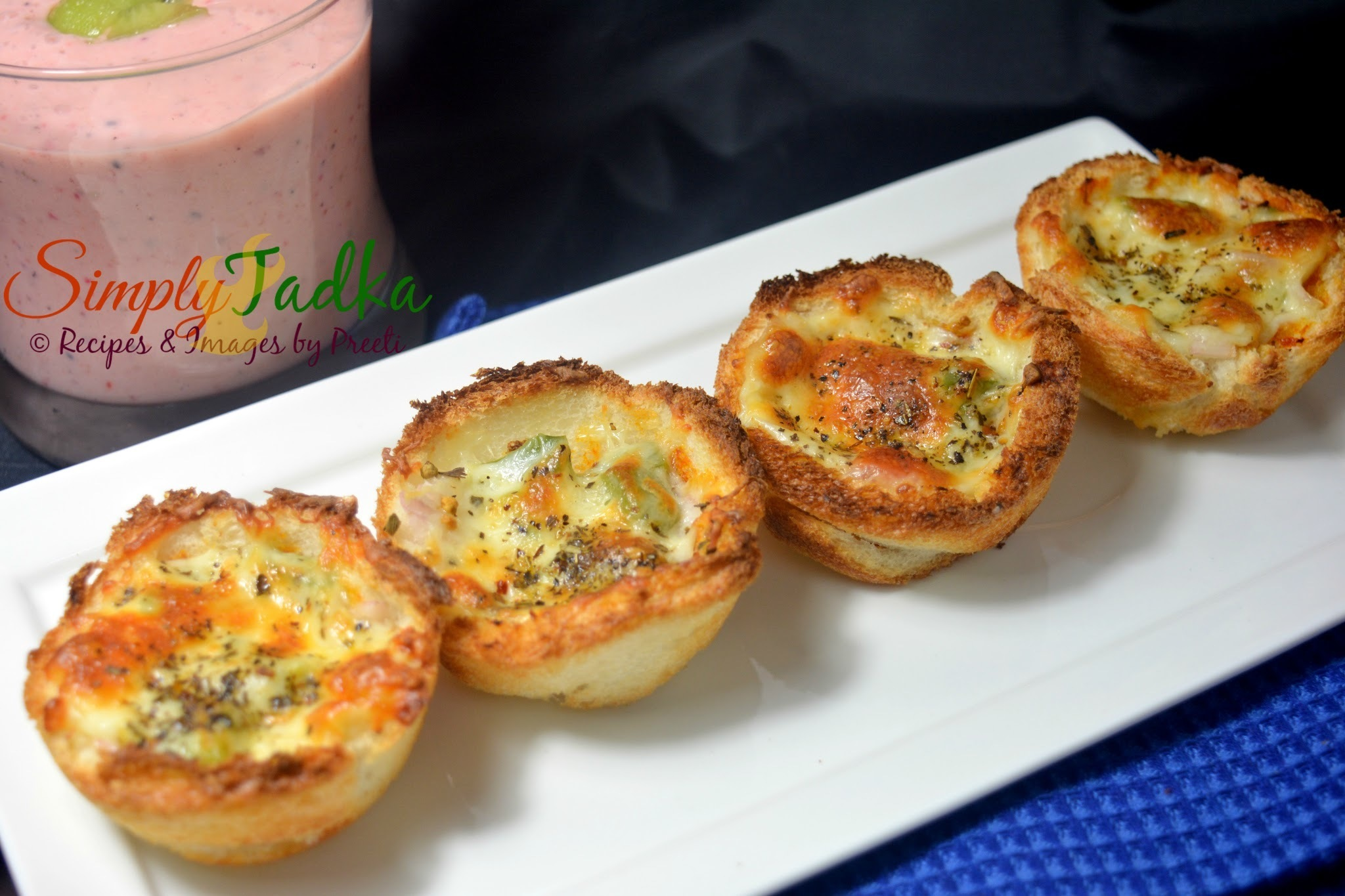 Bread Pizza Cups | Cheesy Bread Pizza Cups | Pizza Recipes