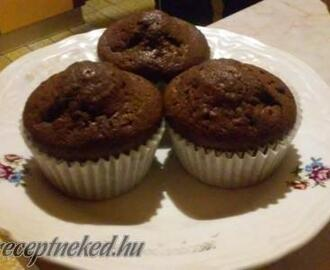 Gluténmentes duplacsokis muffin