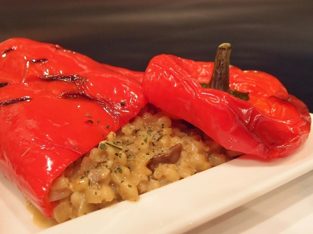 Stuffed giant peppers