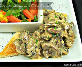 Sirloin and Mushrooms in Dijon Cream