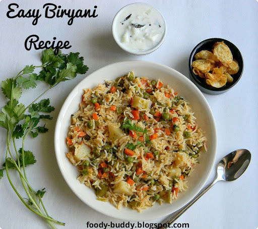 EASY AND QUICK VEGETABLE BIRYANI | PRESSURE COOKER BIRYANI