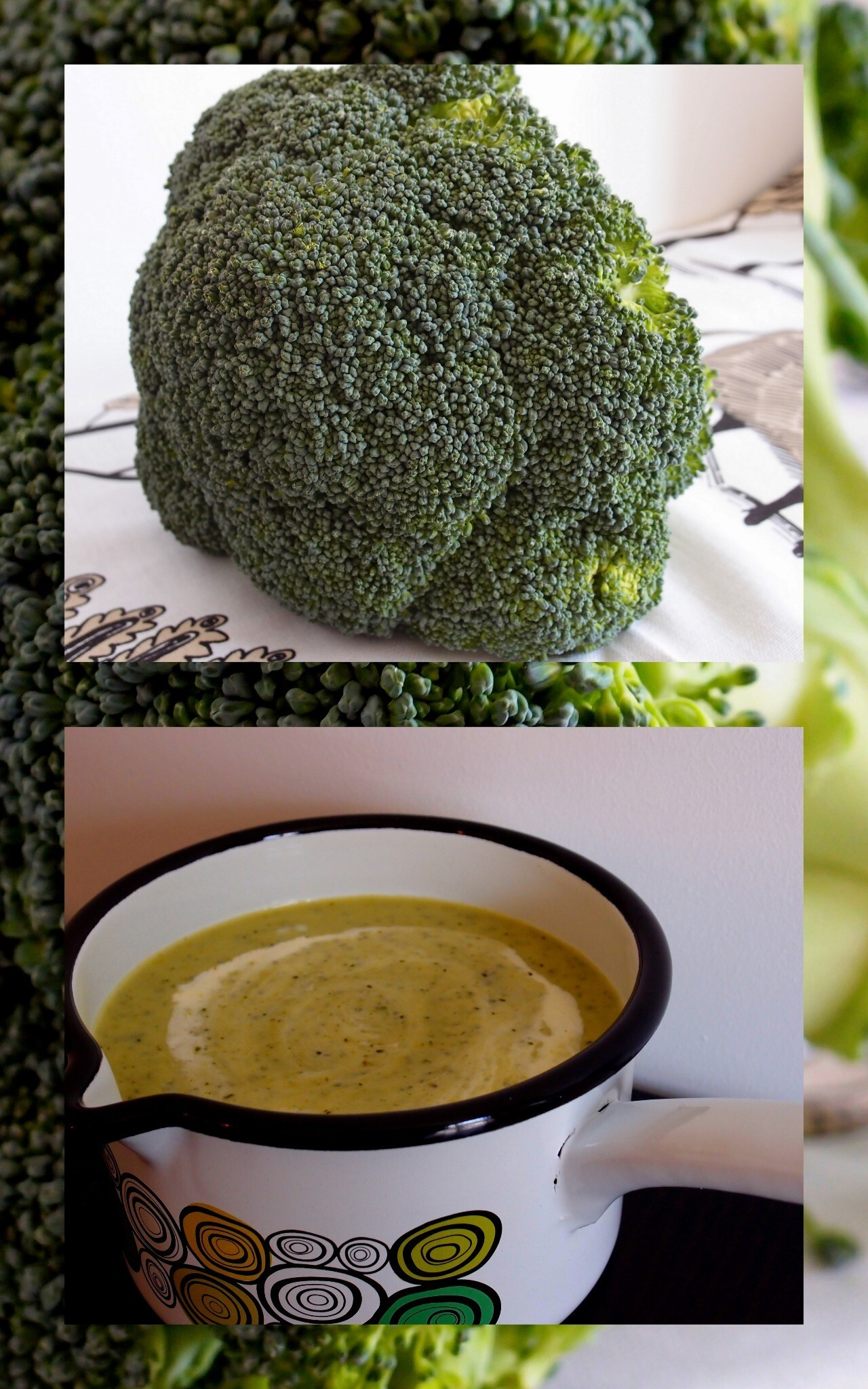 Broccoli and potato cream soup