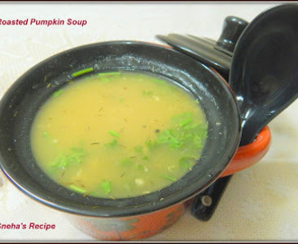 Roasted Pumpkin Soup#Soupswappers