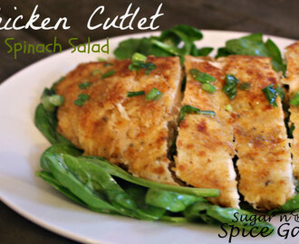 Chicken Cutlet & Spinach Salad