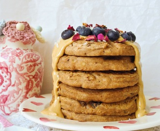 Vegan Cinnamon-Raisin Buckwheat Pancakes