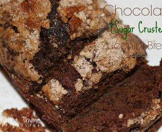 Chocolate {Sugar Crusted} Zucchini Bread