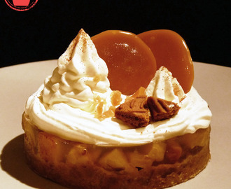 Transparence de pommes, caramel, speculoos & chantilly mascarpone
