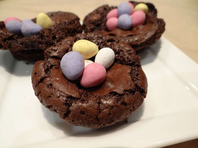 Brownie Easter Nests