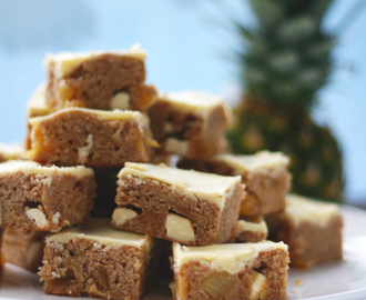 Fairtrade Ananas blondies met witte chocolade chunks