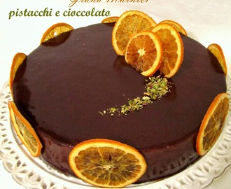 Torta Chantilly al Grand Marnier, pistacchi e cioccolato