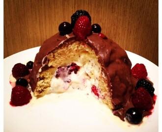 Summer Fruits Chocolate Ice Cream Bombe Recipe