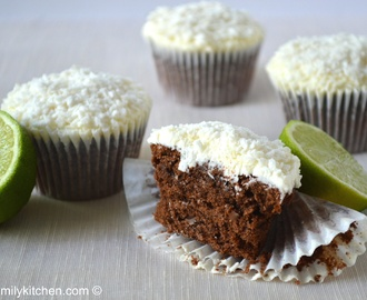 Chocolate Lime Cupcakes with Coconut Lime Buttercream