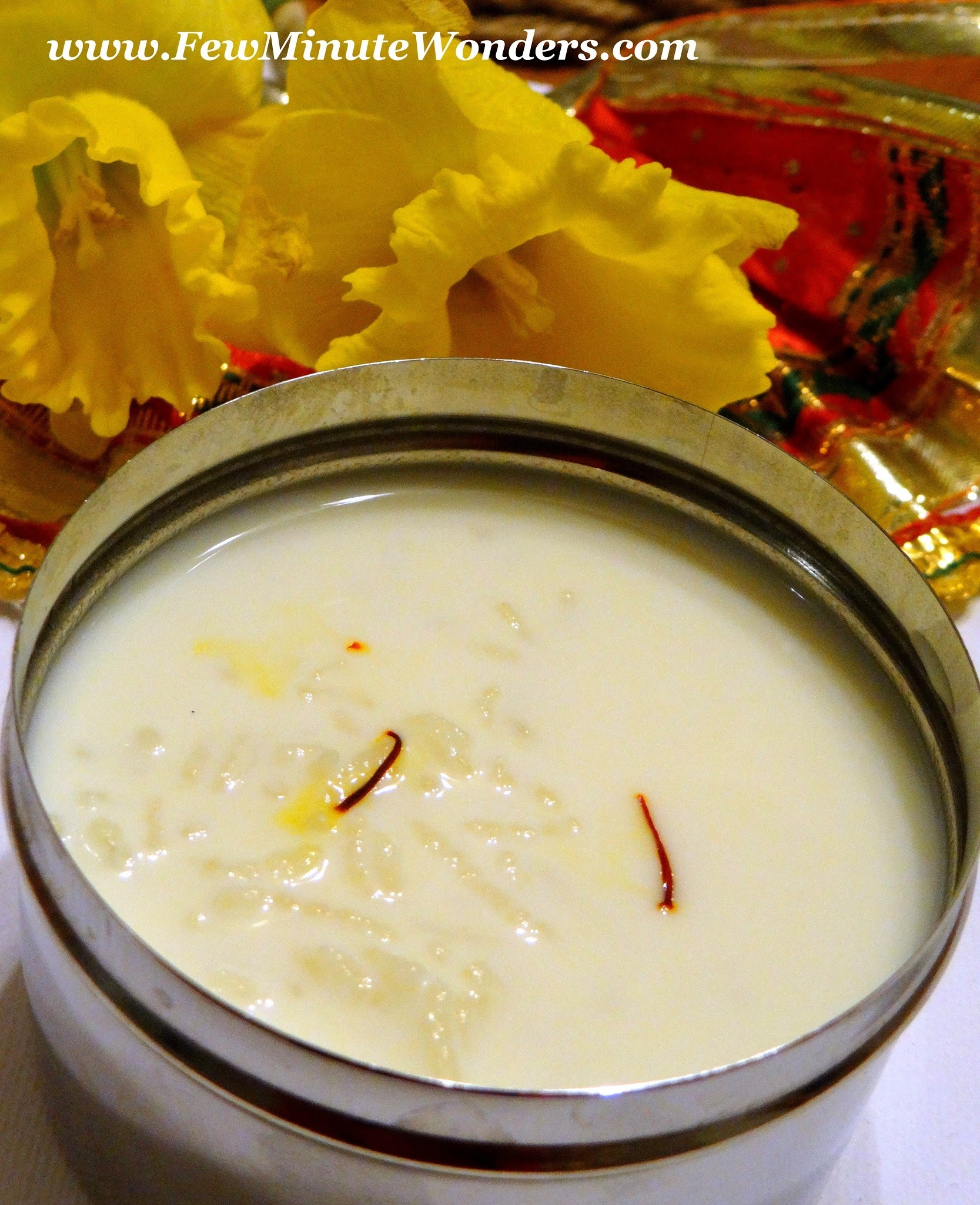 How Make Rice Kheer/ Pal Payasam In The Oven?